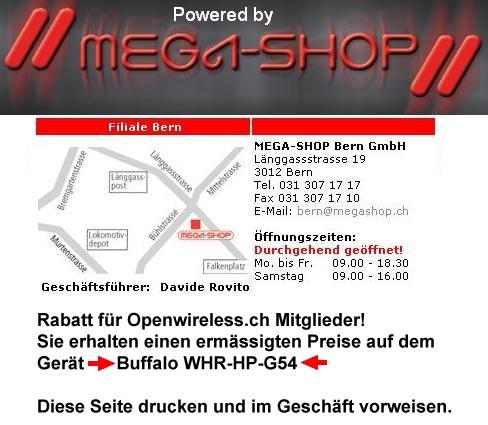 Megashop Bern ist Buffalo WHR-HP-G54 Lieferant